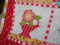 Lots of PolkaDots in this one.        I just looove.. this Annie Basket quilt. I only did half of it to hang in the store here, but it w...