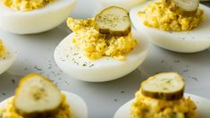 Love deviled eggs for breakfast? Try our deviled eggs with dill pickles made with mustard, dill weed, and parsley for a delicious and easy breakfast option. Easter Recipes, Egg Recipes, Appetizer Recipes, Appetizers, Easter Food, Easter Dinner, Pumpkin Vegetable, Recipes With Marshmallows, Deviled Eggs Recipe