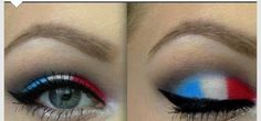 Last minute 4th of July makeup | 20 Patriotic Eye Makeup Ideas Step by Step that you have to see to believe!