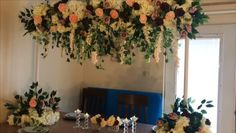 DIY-Enchanted Garden High Centerpiece - Home Decoration Diy Wedding Backdrop, Diy Backdrop, Backdrop Decorations, Diy Wedding Decorations, Backdrops, Diy Centerpieces, Tall Centerpiece, Centerpiece Wedding, Decoration Evenementielle