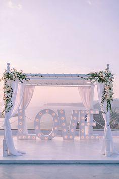 Chic intimate wedding in Santorini │ Nicol & Sebastian - Chic & Stylish Weddings Wedding Photography Poses, Wedding Poses, Wedding Couples, Wedding Ideas, Road Photography, Wedding Pictures, Wedding Details, Wedding Dresses, Chic Wedding