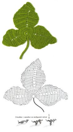 Irish crochet leaf diagram im gonna try this i love it for the gallery 48 angebaltik crochet leaf patterns ccuart Images