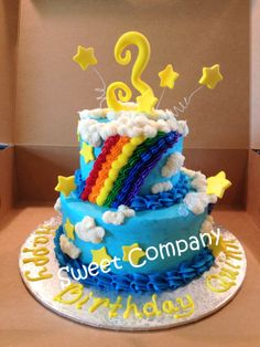 Rainbow Cake by Sweet Company #sweetcompanycake
