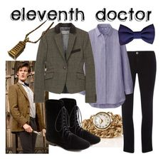 """""""Eleventh Doctor- Blue version"""" by fandom-wardrobes ❤ liked on Polyvore featuring Dorothy Perkins, Uniqlo, Jigsaw, eleventh doctor, eleven and doctor who"""