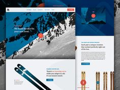 Snow is on the way, unused web concept for Wagner Skis.  Chirp, squawk, tweet...