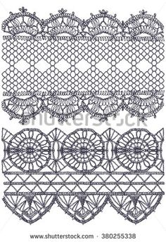 Knitted openwork lace mesh. Seamless vector pattern. - stock vector