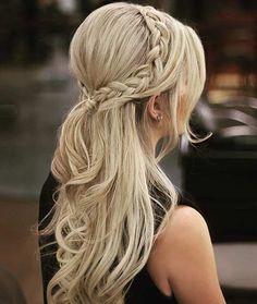Simple & Elegant Teased Crown Hairstyle