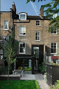 British terrace house garden