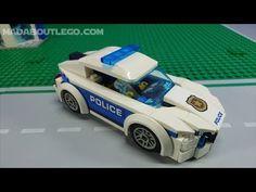 LEGO City Police Patrol Car 60239 Lego City Police, Police Patrol, Police Officer, Perler Beads, Brick, Animation, Car, Automobile, Bricks