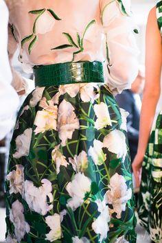 Oscar de la Renta Resort 2013 #Floral #Print #Pattern
