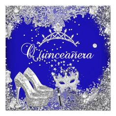 Quinceanera 15th Cobalt Blue Silver Mask Tiara Custom Invite you will get best price offer lowest prices or diccount couponeDeals          	Quinceanera 15th Cobalt Blue Silver Mask Tiara Custom Invite Review from Associated Store with this Deal...