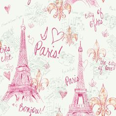 Paris wallpaper from girl power 2 pattern book. Very cute for a decopage dresser or back of bookcase.