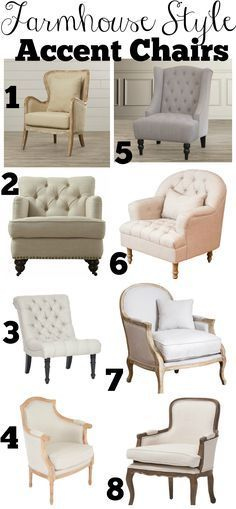 affordable farmhouse style accent chairs - Living Room Chair Styles