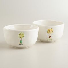 One of my favorite discoveries at WorldMarket.com: Herb Garden Bowls, Set of 2