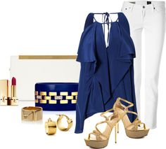 """YSL"" by lilpudget ❤ liked on Polyvore"
