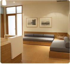 lovely built ins from a yoga studio...but good to convert to beds...i.e. for the den/home office/guest room