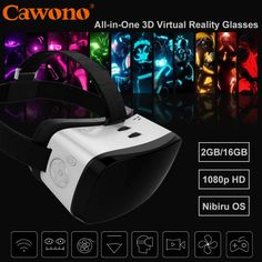 Cawono 1080p All-in-one 3D Virtual Reality Android VR Headset H8 Octa Core WIFI