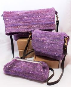 Messenger bags - woven and felted