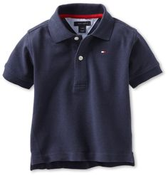 Tommy Hilfiger Toddler Baby Boys' Basic Ivy Pique Polo Shirt, Blue 12 Months #TommyHilfiger
