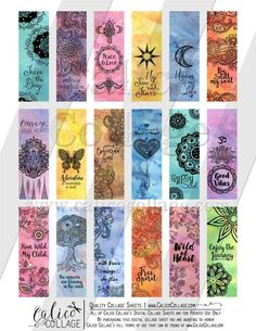 Colorful mandala bookmark this and a lot of other designs on my Etsy shop 💙 Creative Bookmarks, Bookmarks For Books, Cute Bookmarks, Paper Bookmarks, Bookmark Craft, Watercolor Bookmarks, Bookmarks Quotes, Mandala Art Lesson, Mandala Drawing