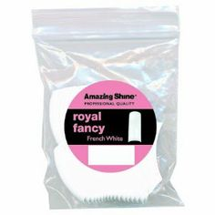 Amazing Shine Royal Fancy 50 False Nail Tips - French White (Size 5) by Amazing Shine. $3.49. Developed from improved ABS plastic designed for easy cutting, filing and buffing.  Professional Tips are super thin with minimal contact area for a natural look. Deep elegant curves allow easier application in less time. Tips are sized for a better fit creating beautiful appearance.  Extra Slim Excellent fit to natural nail , invisible seam line. Flexible No cracks, no chips, no whi...