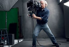 James Cameron with His Fusion 3-D camera rig
