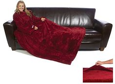 5e0270446b The Ultimate Slanket - The Original Blanket With Sleeves - Ruby Wine Sleeve  Designs