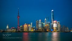Shanghai Blues - Another one in my Shanghai series - this time taking advantage of the clear skies during blue hour once again overlooking Pudong district from the banks of the Huangpu river along the Bund.