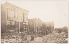 RP: Sidewalk/Road Construction Crew , Main Street West , ALLENTOWN , Wisconsin , PU-1911 Item number: 264925363  - Delcampe.com