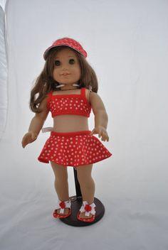 Hey, I found this really awesome Etsy listing at https://www.etsy.com/listing/162913223/polka-dot-bikini-for-american-girl-dolls