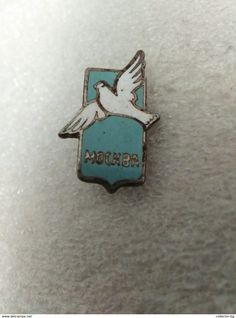 """RARE MOSCOW CITIE OF PEACE ENAMEL СССР SSSR RUSSIA USSR  60""""S LOGO  VINTAGE  BADGE PIN - Cities"""