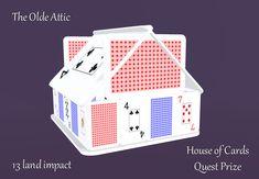 Merchant: The Olde Attic Prize Name: House of Cards Prize Type: Build House Of Cards, Attic, Type, Holiday Decor, Building, Home Decor, Loft Room, Decoration Home, Room Decor