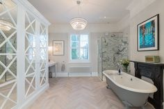 A Beautifully Decadent Master Bathroom designed by Laura Butler Madden - Heritage Bathrooms