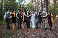 Rustic/Modern: Wedding Style:mismatched bridal party