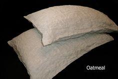 Linen Pillowcase natural linen pillow case envelope closure