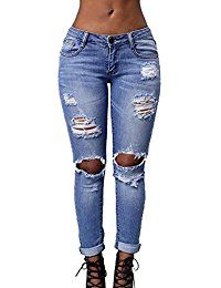 First Choice Donna Super Skinny Jeans Blu//Jeans Donna//Bassa Vita Jeans