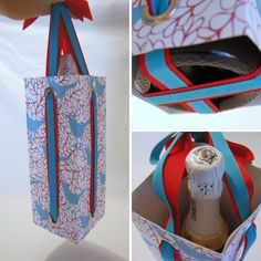 How to make a paper wine bag #crafts #tutorial #packaging