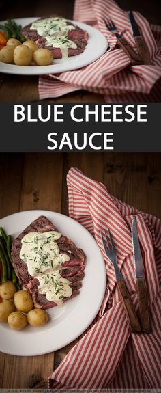 This blue cheese sauce recipe will convert even the most blue cheese-averse person. You'll need any type of blue cheese, it can be Gorgonzola, Stilton, Roquefort of other types. Heat the double cream first and then add the cheese in slowly. Best served immediately with steak, chicken, pasta, vegetables and seafood.