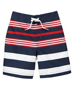 Patriotic Stripe Swim Trunks from Gymboree on Catalog Spree