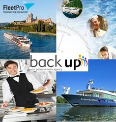 River Cruise season 2016 sees many new river cruise ships joining the market.  Great career opportunities are awaiting aboard vessels managed from FleetPro River Advice, including vessels from Avalon Waterways, Vantage Travel, Excellence Reisen and Nicko Tours.   If interested please send your CV to info(@)backup-jobs.com