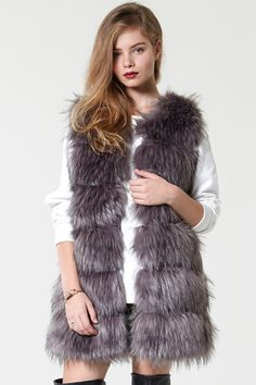 Made 4 Rockin' Faux Fur Vest - Faux Fur - Jackets/Coats - Clothing Discover the latest fashion trends online at storets.com