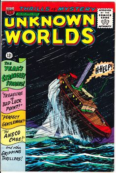 Unknown Worlds 47 ACG Comics Boat Sinker by Lifeofcomics Johnny Craig Al Williamson Tales of Horror Fear Terror Scary Creepy Nightmare 1966 #comicbooks