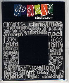 "GoWest CHRISTMAS OverStated 3-3/4"" Laser-Etched Acrylic Frame scrapbooking"