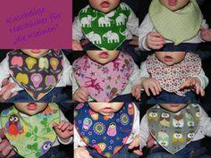 Halstücher aus verschiedenen Kinderstoffen!