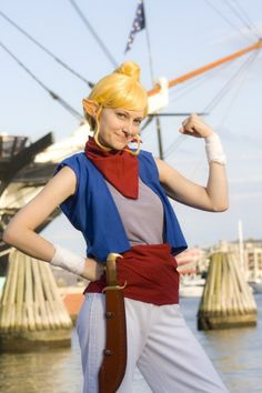 Tetra cosplay (from Zelda: The Wind Waker/Phantom Hourglass. Comic Con Costumes, Cosplay Costumes, Cosplay Ideas, Fullmetal Alchemist, Boston Comic Con, Shigeru Miyamoto, Best Cosplay, Awesome Cosplay, Japanese Games