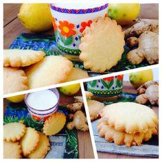 Biscotti di farina di riso allo zenzero e limone