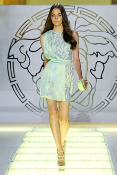 Versace » Spring 2012 RTW » ... love this, like a futuristic short Sari.