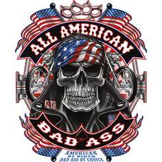 Harley Davidson Tattoos, Harley Davidson Pictures, Harley Davidson Wallpaper, Harley Davidson Art, Classic Harley Davidson, Skeleton Love, Skeleton Art, Betty Boop Halloween, American Flag Art
