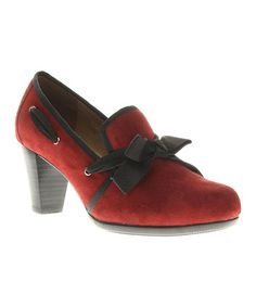 Take a look at this Red Enchanting Pump by Azura on #zulily today!