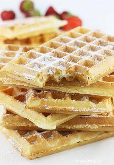 Przepis na gofry | AniaGotuje.pl Breakfast Recipes, Recipies, Cooking, Desserts, Food, Polish, Kitchen, Diy, Ideas